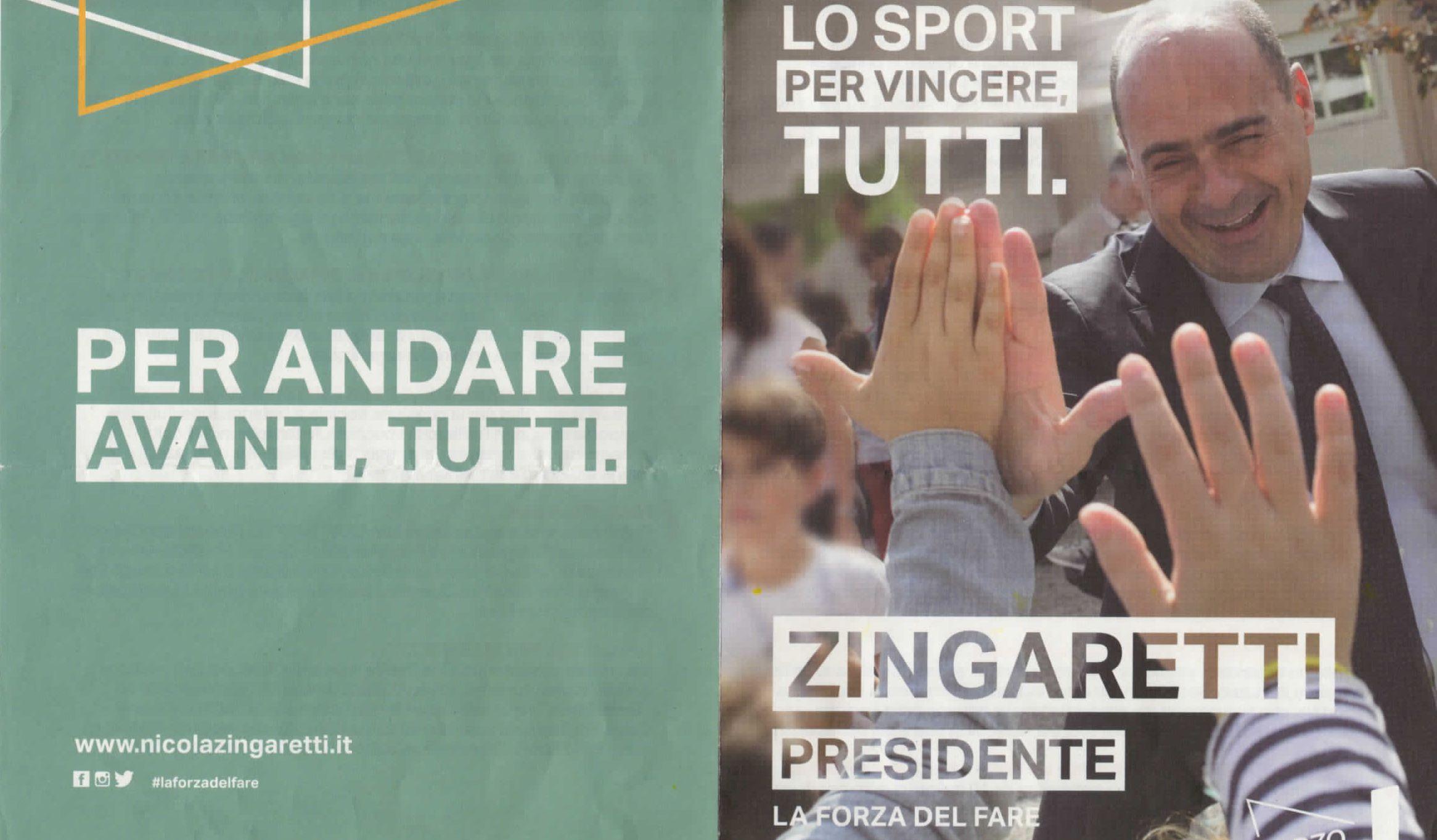 """Lo Sport scrive al PD: """"Con Zingaretti nuovo segretario la vedo dura …"""""""